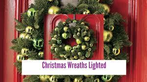 wreaths lighted