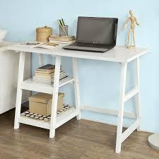 Schreibtisch Massiv Relaxdays Computertisch Holz Tastaturauszug Bürotisch Ausziehbar