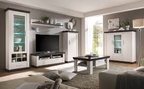 Wohnzimmer Beleuchtung Modern Wohnzimmer Set In Pinie Weiss Mit Led Beleuchtung Woody 16 00523