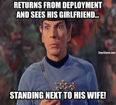 Army Girlfriend Memes - never cheat on your spouse navy memes clean mandatory fun