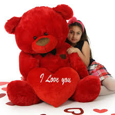 big valentines day big s teddy with bow tie and plush i you