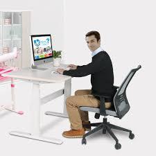 bureau pc portable moderne style simple électrique hauteur réglable ordinateur de