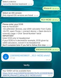 how do you send a telegram this telegram bot instantly generates shsh2 blobs on your iphone