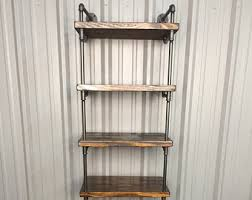 Industrial Pipe Bookcase Industrial Pipe Shelving Unit Pipe Shelf Pipe Bookcase