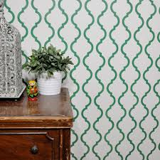 Moroccan Pattern Art Moroccan Wall by Outline Moroccan Wall Stencil Reusable