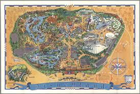 1964 World S Fair Map by Walt Disney U0027s Guide To Disneyland The Magic Kingdom David
