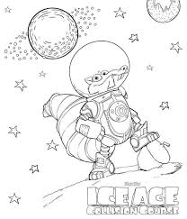 coloring ice age collision scrat space coloring