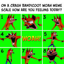 Woah Meme - crash bandicoot on twitter which woah frame do you feel