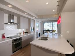 stunning contemporary kitchen with galley design turn your small