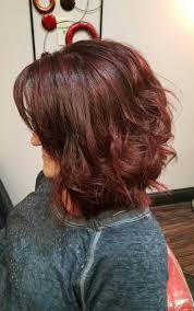 coke blowout hairstyle cherry coke aubergine lob my clients envy hair nail
