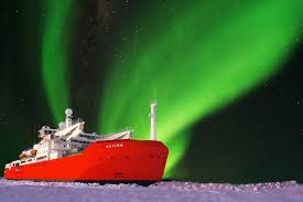 The Southern Lights Artist U0027s Impression Of The New Icebreaker Nuyina At Night With The