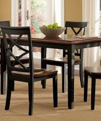 Dining Room Table Black Cherry And Black Dining Table Foter