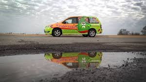 mpv van monster yogurt mazda mpv van full wrap car wrap city
