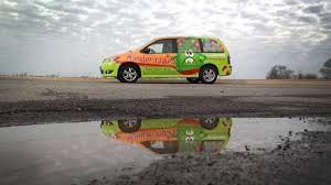 mpv van monster yogurt mazda mpv van full wrap car wrap city