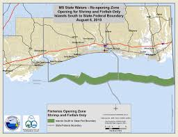 Mississippi State Map All Mississippi Waters Re Open For Commercial Recreational