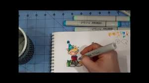 3 year old birthday card first copic coloring process video