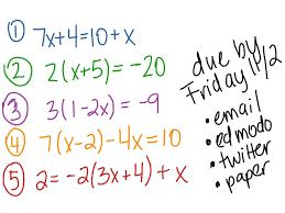 multi step equations math solving equations showme