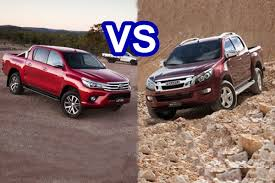 2016 isuzu d max vs 2016 toyota hilux youtube
