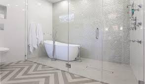 bathtub in large walk in shower transitional bathroom