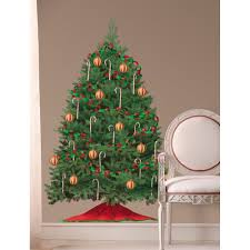 perfect christmas wall decals home design 924 christmas tree giant 3 tall wall decal room decor removable holiday peel stick ebay
