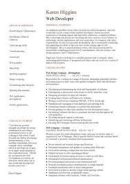 web designer resume sample 20 web designer cv sample example job