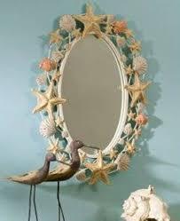 decorating bathroom ideas with seashell mirror decorating