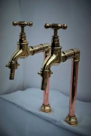 diy faucet with copper pipes and brass fittings beautiful bath