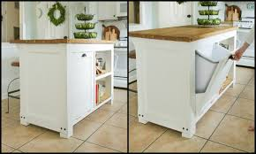 kitchen island with trash bin build a beautiful kitchen island with a tilt out trash bin
