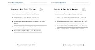 present perfect tense consolidation worksheet photocopiables
