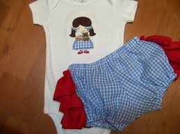 wizard of oz inspired two piece diaper cover dorothy costume baby