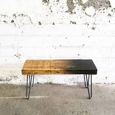grogg ombre bench reclaimed wood bench steel legs bench white