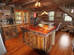 Log Home Kitchens Guntersville Lake Cabin Rental Renovated Kitchen With Granite