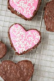 heart shaped crackers heart shaped frosted brownies for s day simply being