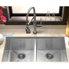 29 inch stainless steel undermount 50 50 double bowl kitchen sink