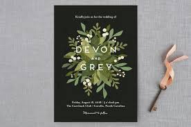 minted black friday laurel of greens wedding invitations by jennifer wick minted
