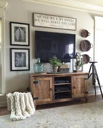 Led Tv Table Decorations 27 Breathtaking Rustic Chic Living Rooms That You Must See