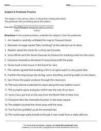 subject u0026 predicate worksheet tim u0027s printables