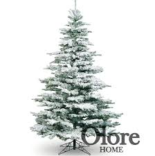 7ft frosted tree flocked noble pine artificial