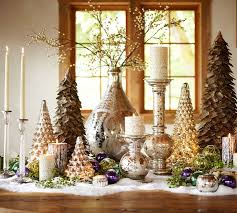 pottery barn christmas table decorations christmas centerpieces