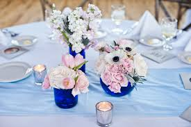 Blue Vases For Wedding Tips On Doing Your Own Centerpieces Pics Included Weddingbee