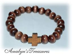 bead bracelet with cross images 8 best wood stretch catholic christian bracelets wood cross jpg
