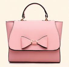 bags with bows pink purse with bow candy color bags pink leather bags for women