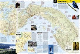 National Geographic Map Panama National Geographic Adventure Map National Geographic