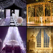 Indoor Curtain Fairy Lights Wedding Romantic Led String Lights Ebay