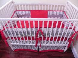 Gray And White Chevron Crib Bedding Custom Crib Bedding Set Gray And White Babybedding