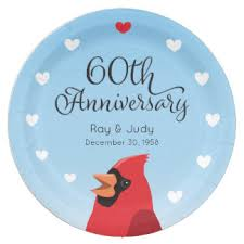 60th wedding anniversary plate 60th wedding anniversary plates zazzle ca
