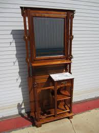 antique victorian hall tree original mirror umbrella stand coat