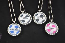 bottle cap necklaces 4 personalized soccer glitter bottlecap necklace party