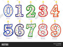 number birthday candles birthday candles number set image photo bigstock