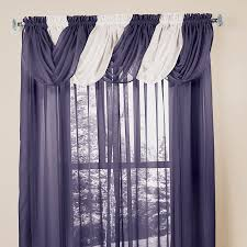 decor dark and white scarf valance with white paint wall for